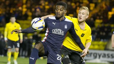 Botti Biabi: The former Falkirk striker has returned to Scottish football with Hamilton.