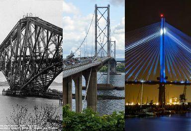 Three bridges, three centuries.