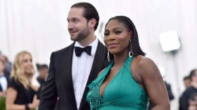 Serena with fiance Alexis Ohanian