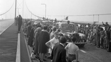 Opening: Her Majesty opened the Forth Road Bridge in 1964.