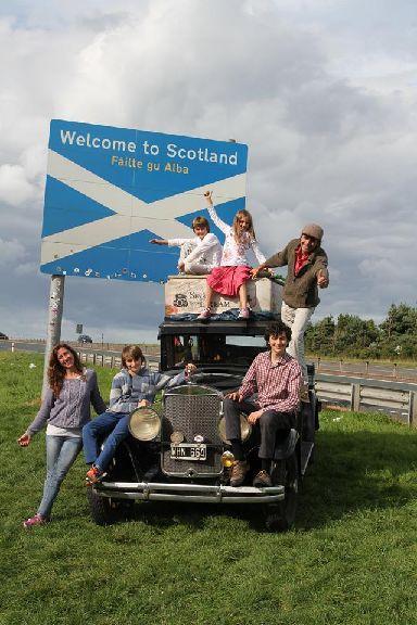 The Zapp family arrive in Scotland.