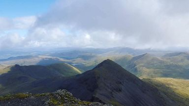 Geraldine's son captured the view from Ben More on Mull.