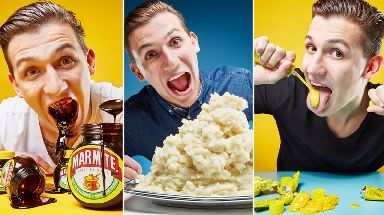 Andre Ortolf certainly loves marmite, mash and mustard