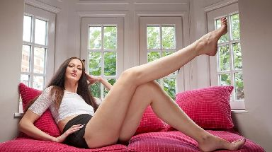 Ekaterina Lisina's legs are the longest in the world.