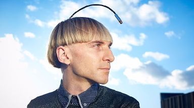Neil Harbisson has no problems tuning in with his antenna.