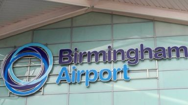 The men were detained at Birmingham Airport after landing on a flight from Istanbul.