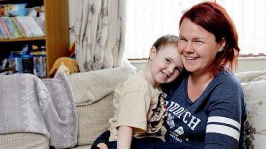 Parent Lindsay Ritchie saved her four-year-old son Logan after he choked on a grape.