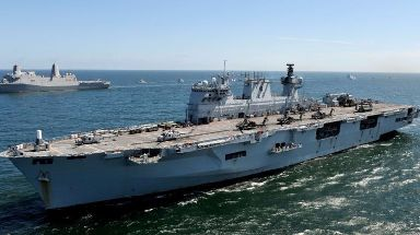 HMS Ocean is joining the relief effort in the Caribbean