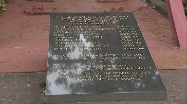 Memorial: A plaque bearing the names of those who lost their lives.