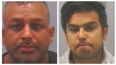 Jahangir Zaman (left) and Habibur Rahim were both jailed for 29 years.