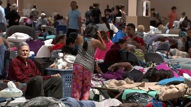 Many shelters in Florida are already full.