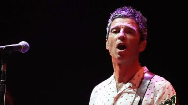 Noel Gallagher performed at the Manchester Arena on Saturday.