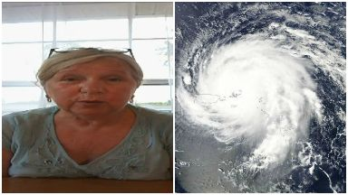 Hurricane: Patricia McLaughlin moved inland to escape flooding.