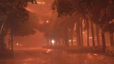 Hurricane Irma hits Florida.