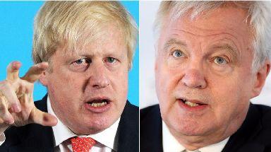 Foreign secretary Boris Johnson and Brexit secretary David Davis.