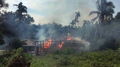 Rohingya villages have been torched by nationalist militias