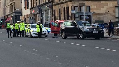 Argyle Street: A child and an adult have been taken to hospital.