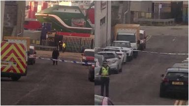 Sinclair Road: Officers cordoned off the area.