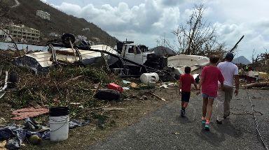 British Virgin Islands was hit hard by Hurricane Irma.