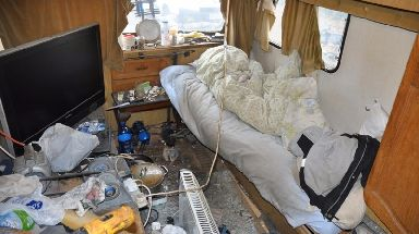 The squalid conditions the men were forced to live in.