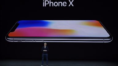 Apple CEO Tim Cook announces the iPhone X