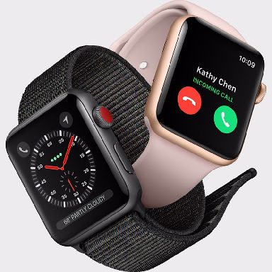 The new Apple Watch will allow users to make calls and send texts without a smartphone.