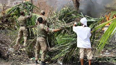 Army Commandos deliver aid and provide support to British Virgin Islands communities on the island of Tortola.