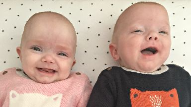 Miracles:  Emelia and Elliot were born three months early.