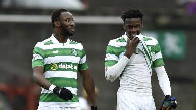 Moussa Dembele (left) and Dedryck Boyata could play together again on Saturday.