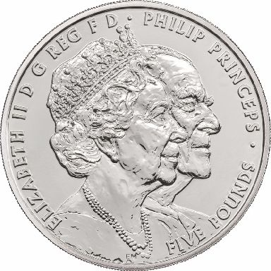The Queen and Prince Philip both appear on the new coin.