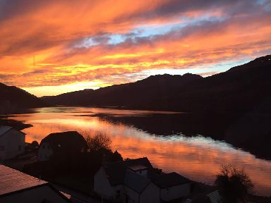 Sunset over Loch Long.