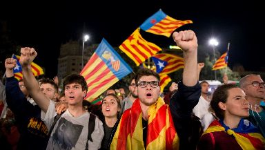 Catalonia: The UK Government said it will not recognise the declaration of independence.