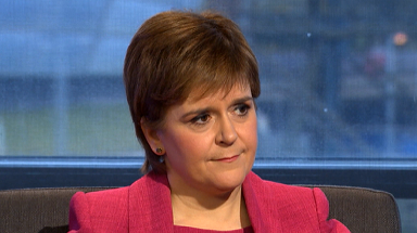 Condolences: Nicola Sturgeon spoke out at First Minister's Questions.
