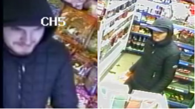 CCTV: Shop was robbed in Edinburgh.