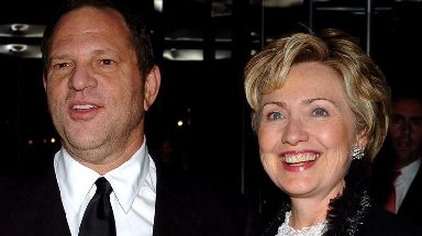 Harvey Weinstein pictured with former US secretary of state Hillary Clinton