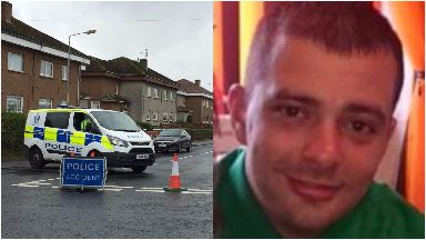 Police: Mario Capuano died at the scene in Barmulloch, Glasgow.