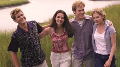 Van Der Beek (third right) played Dawson Leery in the popular nineties show.