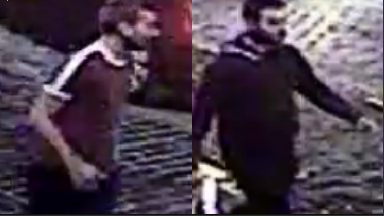 CCTV: The men were last seen entering a taxi towards Cockburn Street.