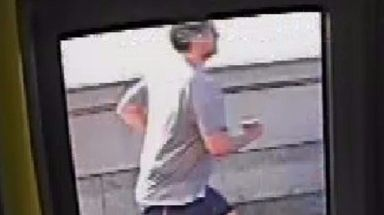 Police: A CCTV image of the jogger captured on the morning of the assault.