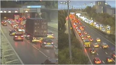 M8: Road remains closed after crash.