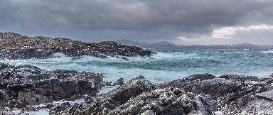 A stormy day on Great Bernera near Lewis.