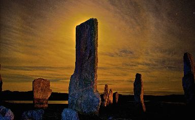 Breathtaking: Lewis' Callanish Stones lit up by the night sky.