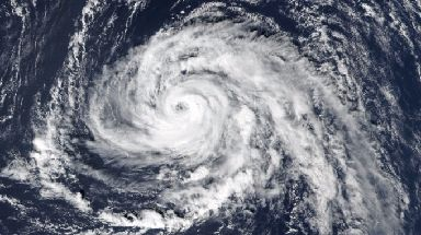 Ophelia's status as a hurricane was downgraded as it crossed the Atlantic.
