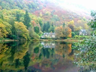 Morning light on Loch Ard.