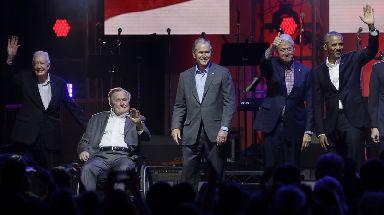 Jimmy Carter, George HW Bush, George W Bush, Bill Clinton and Barack Obama