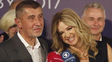 Czech billionaire Andrej Babis with his wife Monika