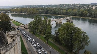 The accident happened on the River Rhone at Avignon.