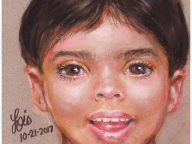Police released a sketch of the boy drawn by a forensic artist