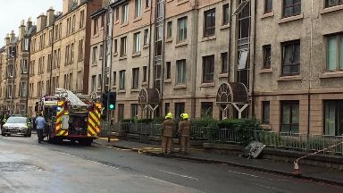 Edinburgh: Slateford Road closed.