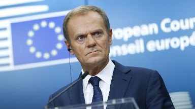 Donald Tusk said the ball lay in Britain's court.
